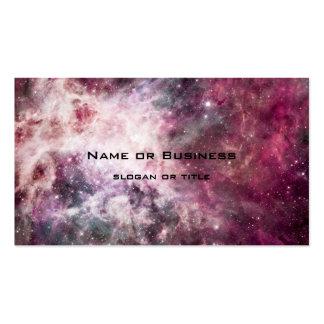 Formación de la nebulosa en espacio exterior tarjetas de visita