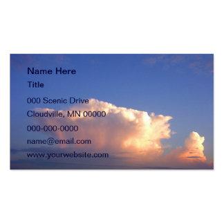 Formación de la nube tarjetas de visita