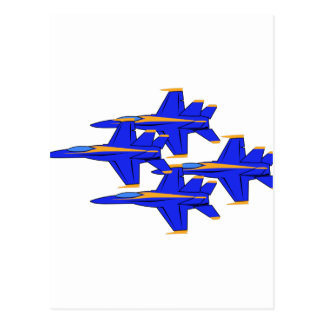 Formación de los ángeles azules postales