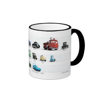 Formación de los coches de Disney Taza De Café
