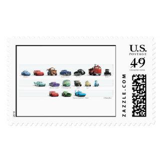 Formación de los coches de Disney Timbre Postal