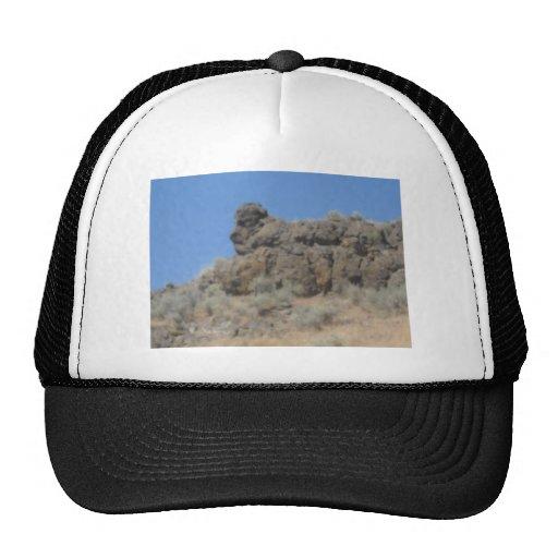Formación de roca animal gorras