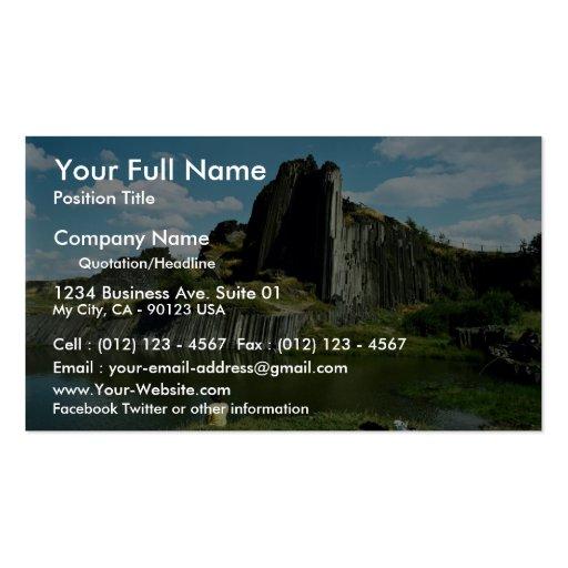 Formación de roca del basalto, la pared del diablo tarjetas de visita