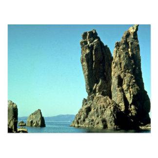 Formación de roca del Mar Negro Crimea Rusia Tarjetas Postales