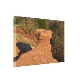 Formación de roca extraña impresiones en lona estiradas