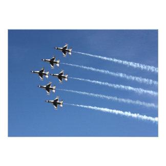 Formación del delta de los Thunderbirds F-16