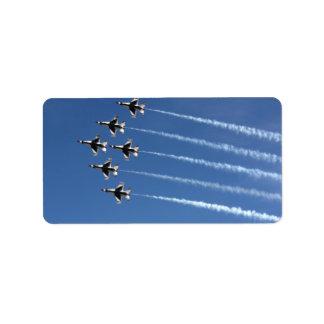 Formación del delta de los Thunderbirds F-16 Etiquetas De Dirección