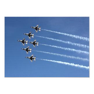 Formación del delta de los Thunderbirds F-16 Invitación 12,7 X 17,8 Cm