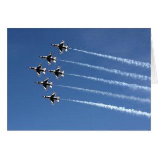 Formación del delta de los Thunderbirds F-16 Tarjeta De Felicitación