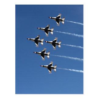 Formación del delta de los Thunderbirds F-16 Tarjetas Postales