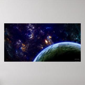 Formación del espacio profundo - extremo póster