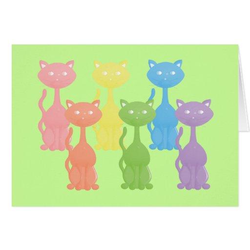 Formación del gatito del arco iris tarjeta pequeña