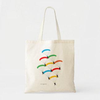 Formación del paracaídas bolsas de mano