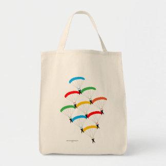 Formación del paracaídas bolsa tela para la compra