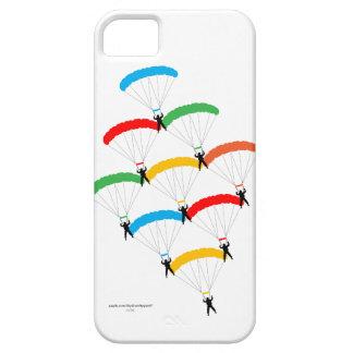 Formación del paracaídas iPhone 5 funda