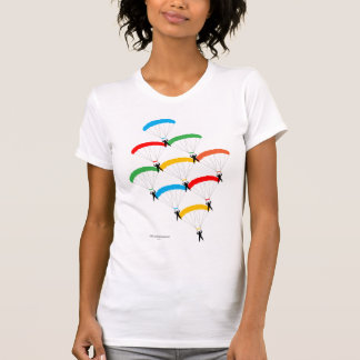 Formación del paracaídas camiseta