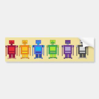 Formación del robot etiqueta de parachoque