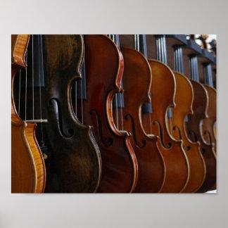 Formación del violín póster