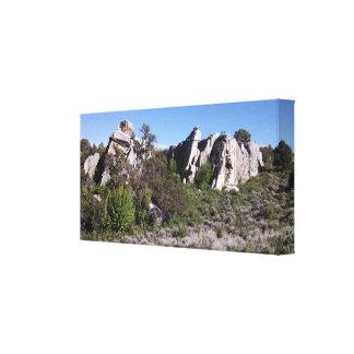 Formación en la ciudad de la reserva nacional de l impresión en lienzo estirada