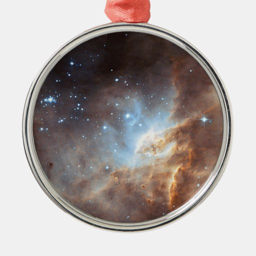 Formación estelar adorno navideño redondo de metal