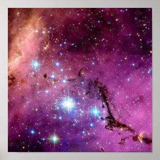 Formación estelar de LHA 120-N11 Póster