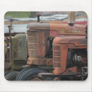 Formación roja Mousepad del tractor