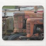Formación roja Mousepad del tractor Tapetes De Raton