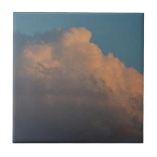 formación rosada bonita la Florida de la nube Teja Cerámica