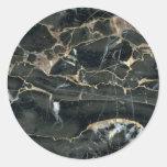 Formaciones completamente sólidas de la aguafuerte etiqueta redonda