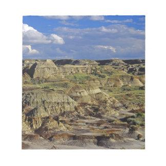 Formaciones de los Badlands en el parque provincia Bloc De Notas