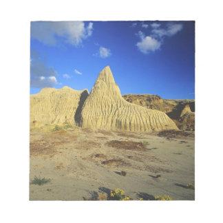 Formaciones de los Badlands en el parque provincia Bloc De Papel