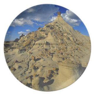Formaciones de los Badlands en el parque provincia Plato De Comida