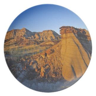 Formaciones de los Badlands en el parque provincia Plato Para Fiesta