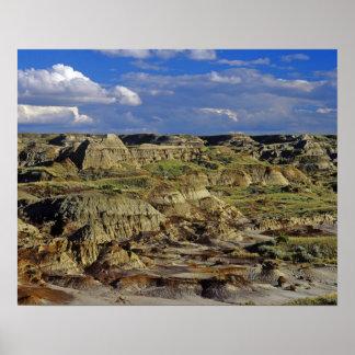 Formaciones de los Badlands en el parque provincia Póster