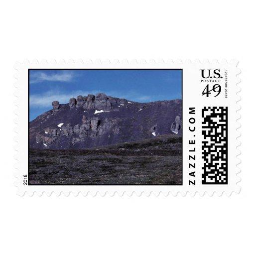 Formaciones de roca del basalto sello