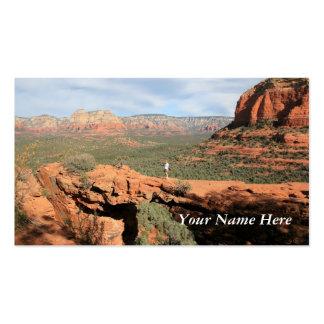 Formaciones de roca naturales tarjeta personal