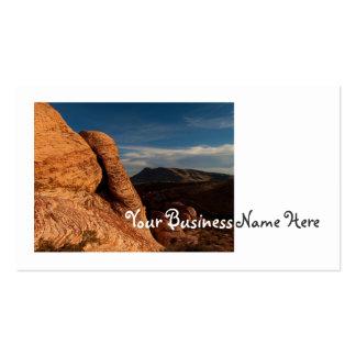 Formaciones en roca roja tarjetas de visita
