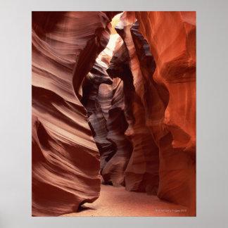 formaciones Flashflood-erosionadas de la piedra ar Impresiones