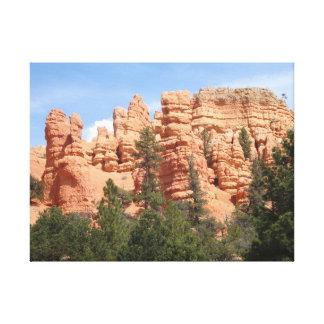 Formaciones geológicas impresionantes en el barran lona envuelta para galerías