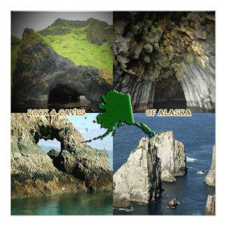 Formaciones y cuevas de roca en el collage de Alas Comunicados Personales