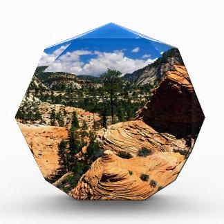 Formaciones Zion Utah de la piedra arenisca del pa