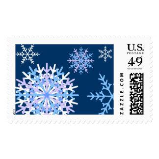 Formado escamas timbre postal