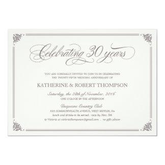 Formal 30th Anniversary Invitations