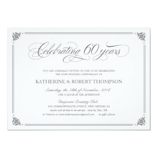 Formal 60th Anniversary Invitations Amazing Pictures