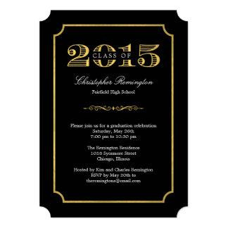 "Formal Affair Editable Color Graduation Invitation 5"" X 7"" Invitation Card"