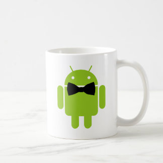 Formal Android Robot Icon Graphic Coffee Mug