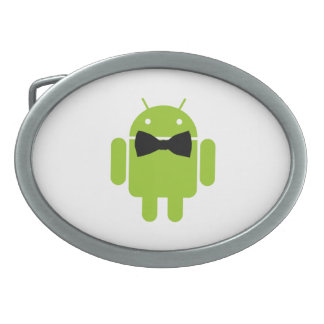 Formal Atire Android Robot Oval Belt Buckle