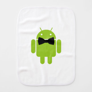 Formal Atire Android Robot Burp Cloth