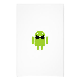 Formal Atire Android Robot Personalized Stationery