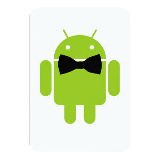 Formal Atire Green Android Robot Card